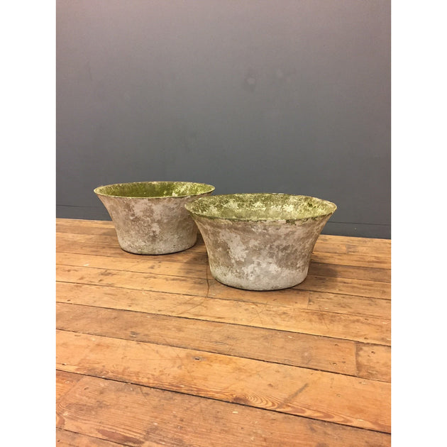 Willy Guhl style concrete garden planters