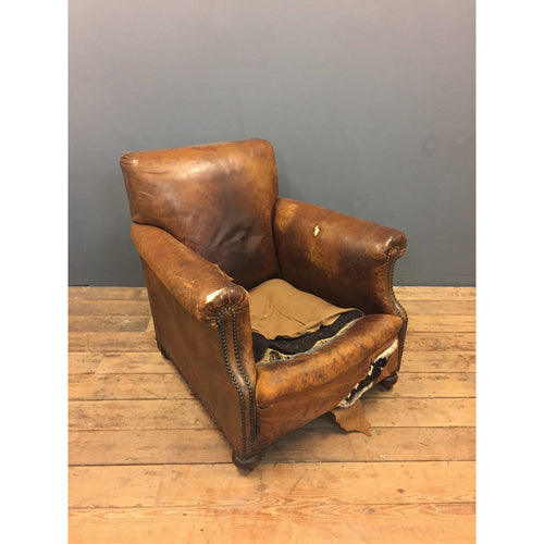 Leather Club Chair and Sofa
