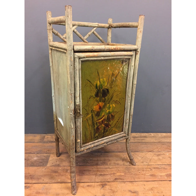 Painted Bamboo Cabinet