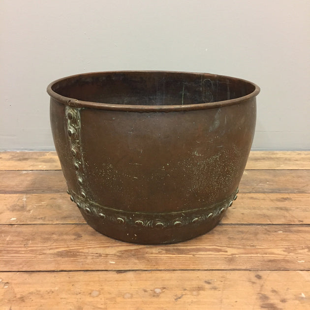 antique copper vat