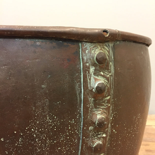 A copper cheese vat