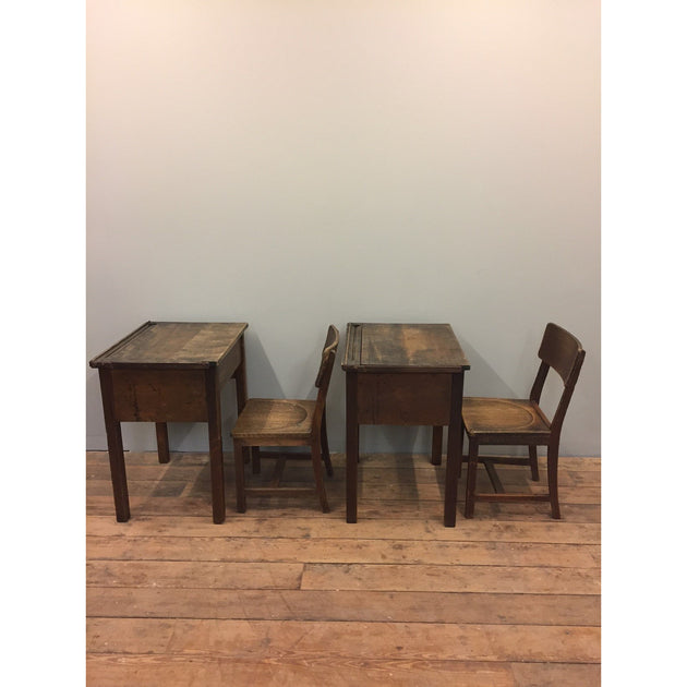 School desks and chairs by Gordon Russell