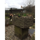 reclaimed carved sandstone trough, garden planters