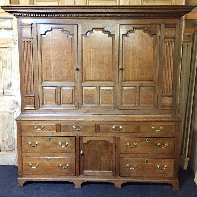 oak livery cupboard Antique oak furniture 18th century