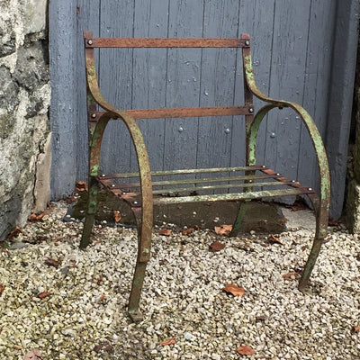 reclaimed antique garden seat chair