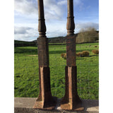 A Pair Of Decorative Cast Iron Posts