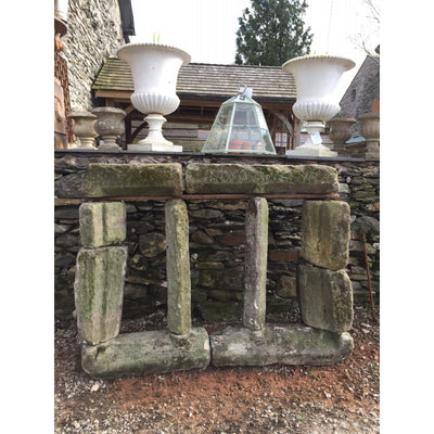 grit stone stone mullion window removed from a yorkshire barn 17th century