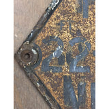 22 cast iron marker plate slavaged from a lancaster dock. uk architectural salvage reclamation yard