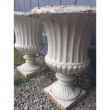 Antique garden urns, cast iron campana urn,  english garden antiques