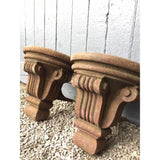 cast iron corbels salvaged from a bonded warehouse. Architectural elements