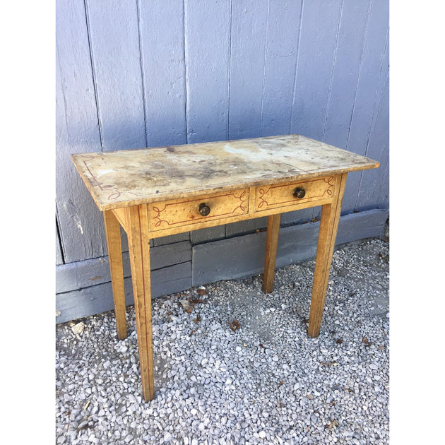 A painted pine side table