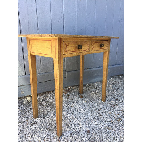 line painted pine regency side table original birdseye maple paint