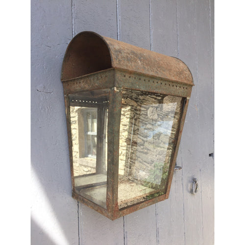 vintage tin wall light