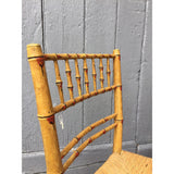 painted regency chair faux bamboo with a rush seat