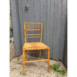 Regency faux bamboo chair