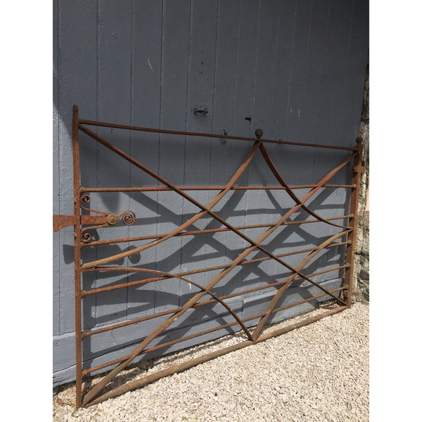 A large reclaimed estate gate, made from wrought iron c1800