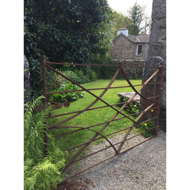 wrought iron georgian gate reclaimed from an estate. architectural salvage, Cumbrian estate blacksmith made garden gate