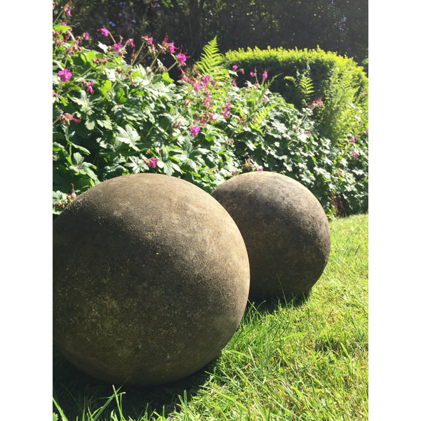 carved stone balls for garden ornaments