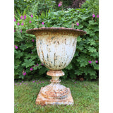Antique cast iron garden urn
