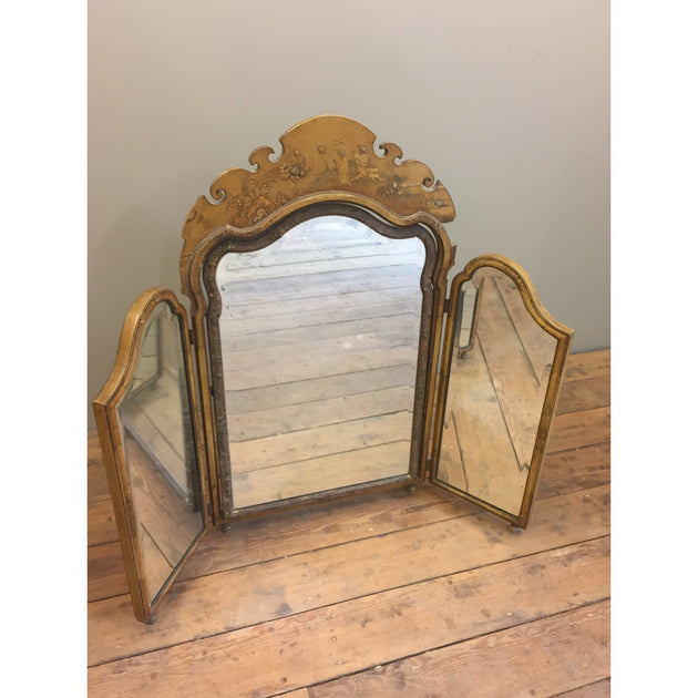 A Lacquered Chinoiserie  Mirror