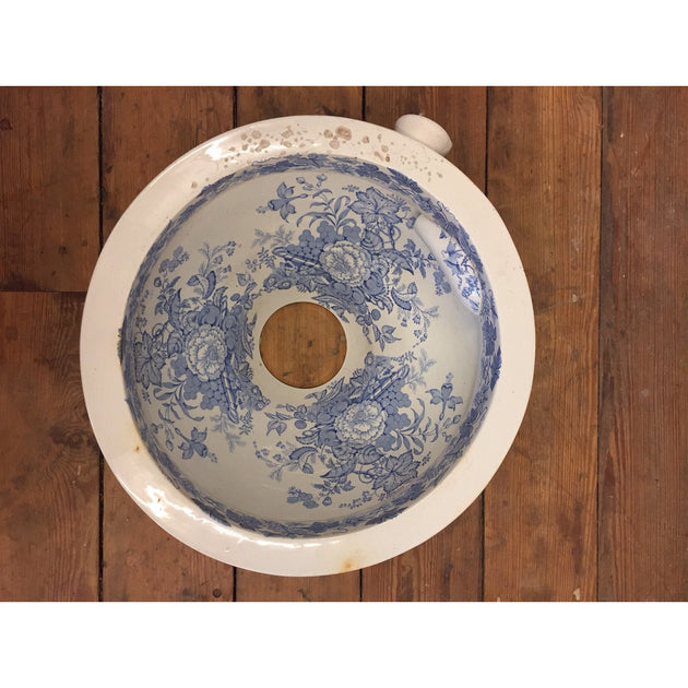 Victorian Blue and White Lavatory Pan