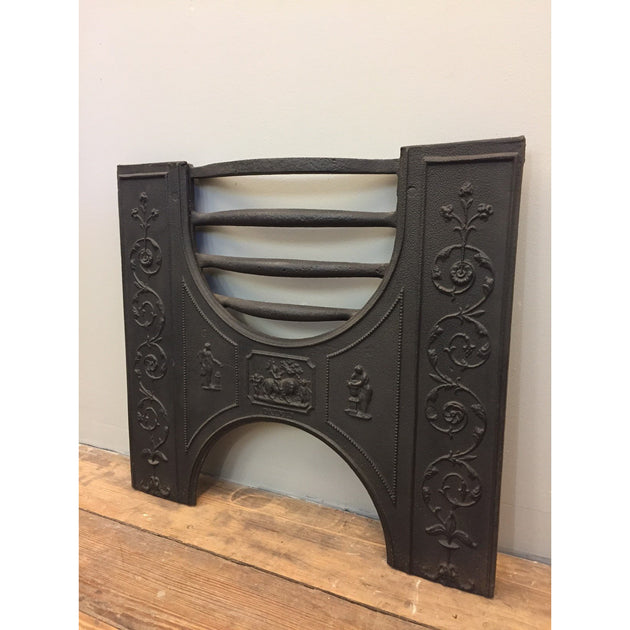 Antique Cast Iron Hob Grate Front by 'Dale Co'