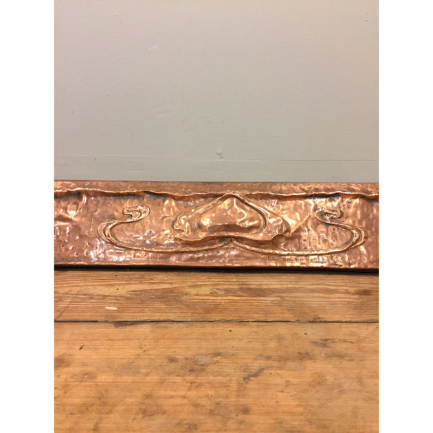 Art Nouveau Copper Fire Fender