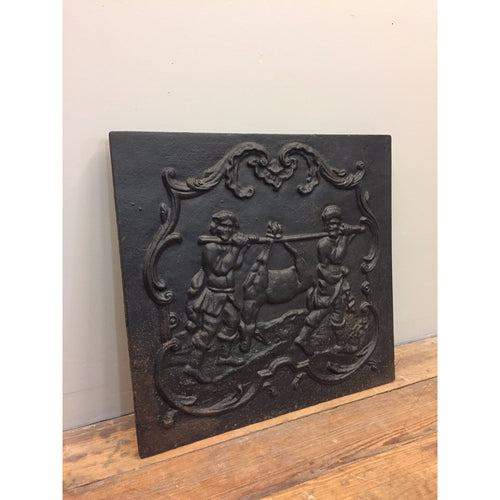 reclaimed cast iron fire back 'Hunters'