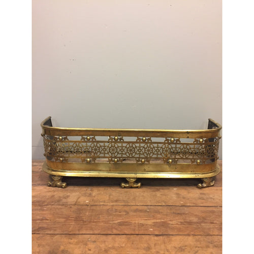 Antique Pierced Brass Nursery Fire Fender