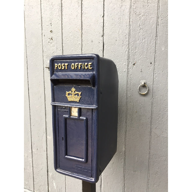 Blue Scottish Royal Mail Post Box