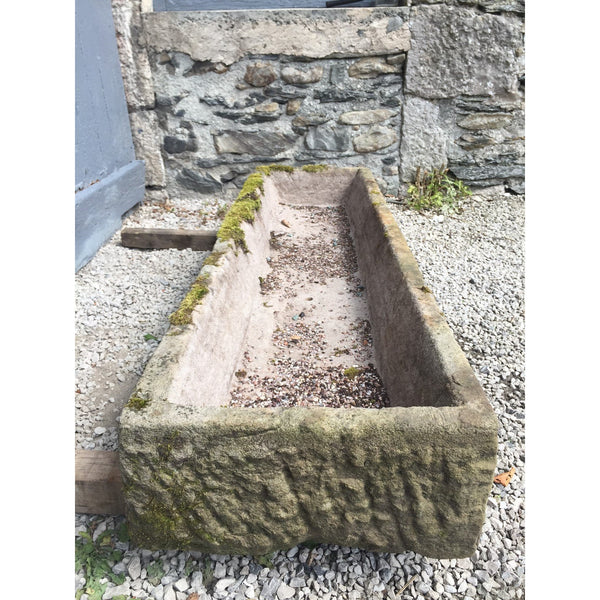 salvaged English stone trough, English garden antiques and troughs