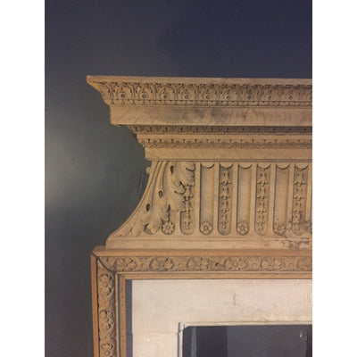 Oak and Bath Stone Chimneypiece