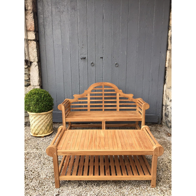 Teak Lutyens Garden table: Classic English Garden Furniture