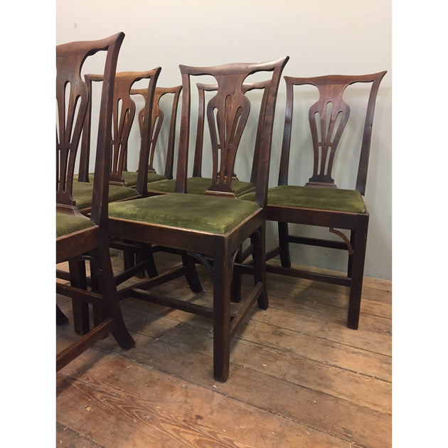George II period Chippendale style dining chairs