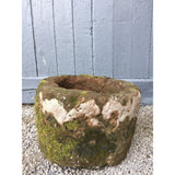 round red reclaimed sandstone trough