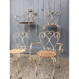 French garden table and four chairs
