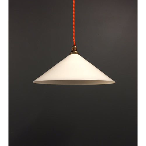 Reclaimed Milk Glass Conical Shade