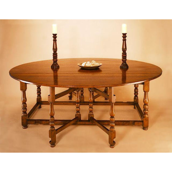 double gateleg oak table