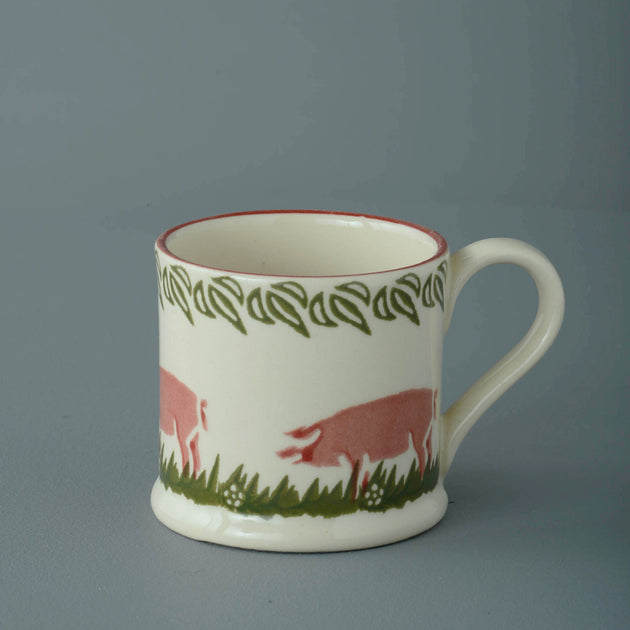 Brixton Pottery Small Pink Pig Mug 150 ml