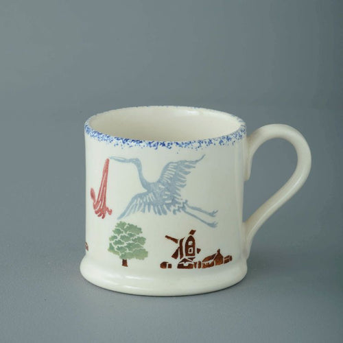 Brixton Pottery Small Stork & Baby Mug 150 ml