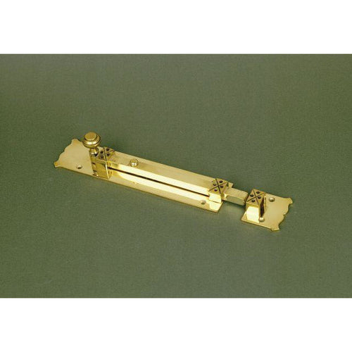 Arts & Crafts brass door bolt