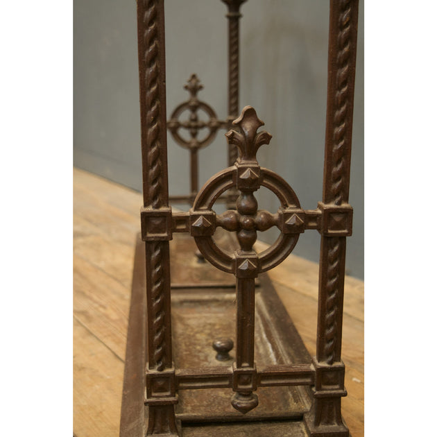 Antique cast iron stick umbrella stand