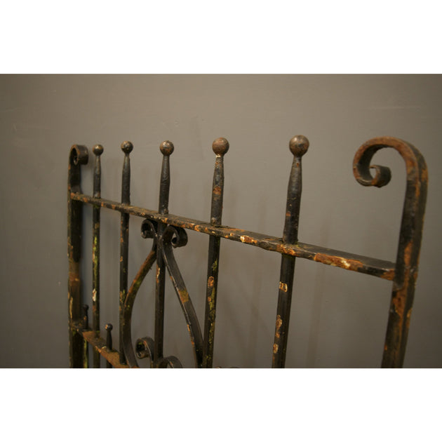 Heavy wrought iron pedestrian gate