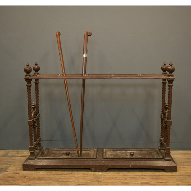 cast iron umbrella stand or hall stick stand 19thC Victorian