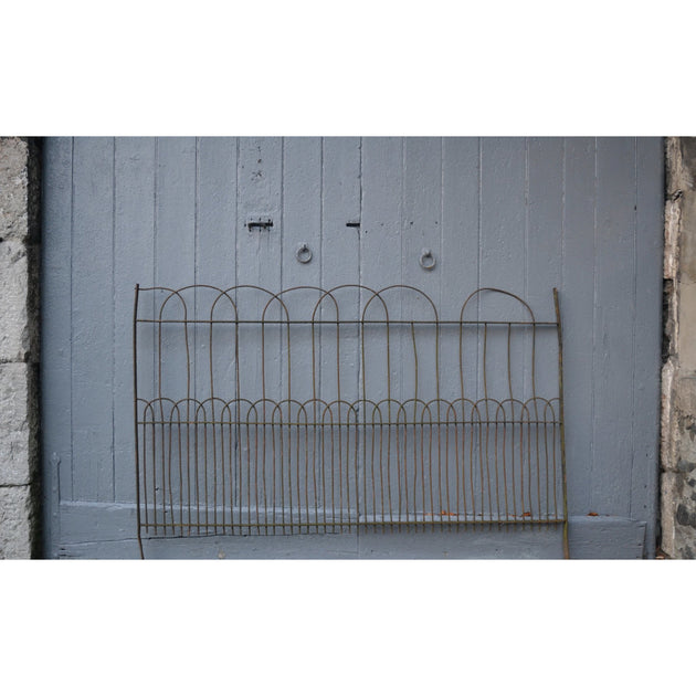 Antique hoop topped garden railings and gate