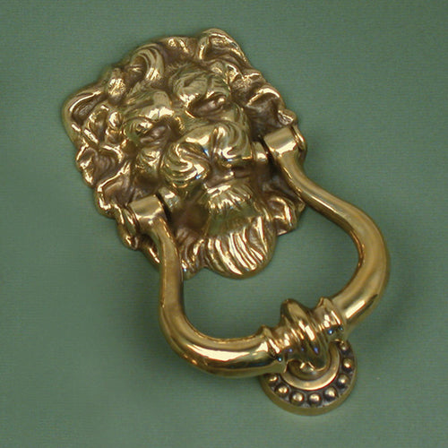 Brass Lions Head Knocker