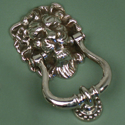Nickel Plated Lions Head Knocker