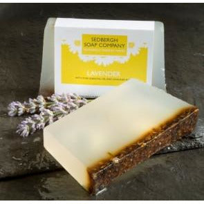Yew Tree Barn Lake District: Lavender Soap bar with pure essential oil and lavender buds.