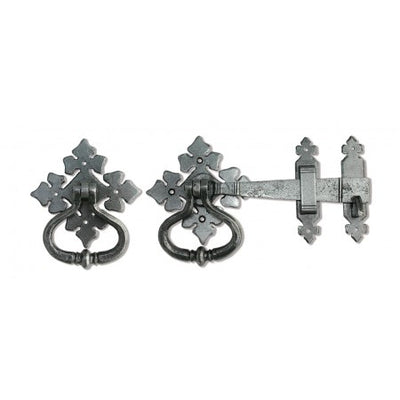 Shakespeare Latch Set - Pewter Patina