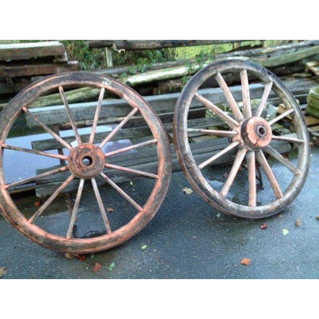 reclaimed antique cart wheels wooden and iron salvaged